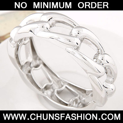 Silver Pure Weave Bangle