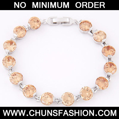 Orange Diamond Zircon Bracelet