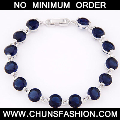 Dark Blue Diamond Zircon Bracelet