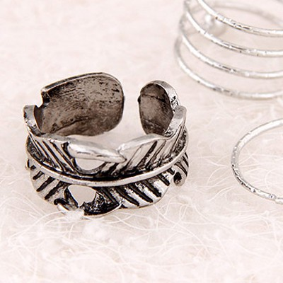 Silver Leaf Shape Ring