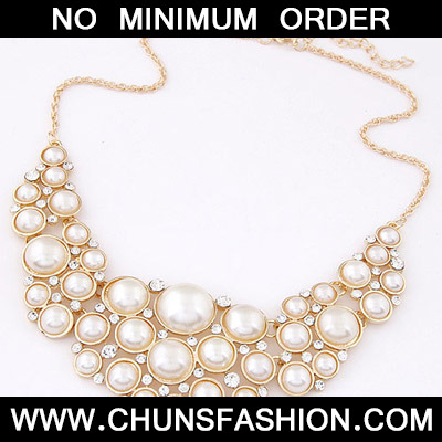 Beige Pearl Multilayer Necklace