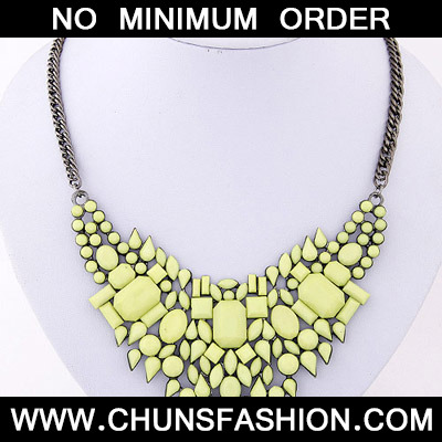 Yellow Geometrical Shape Necklace