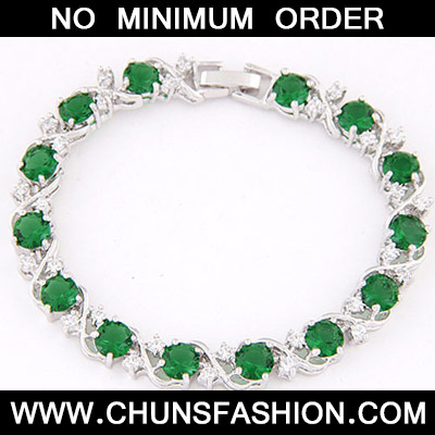 Green Diamond Zircon Bracelet