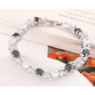 Black & White Diamond Zircon Bracelet