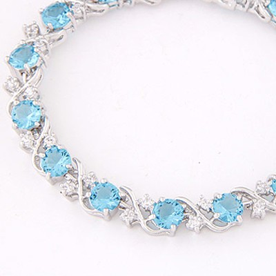 Light Blue Diamond Zircon Bracelet