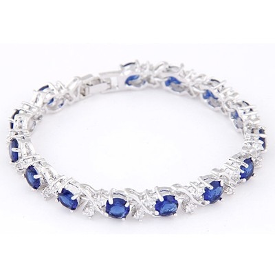 Blue Diamond Zircon Bracelet