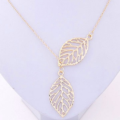 Gold Leaf Shape Necklace