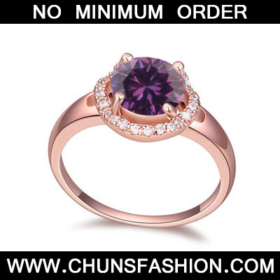 Purple & Rose Gold Diamond Zircon