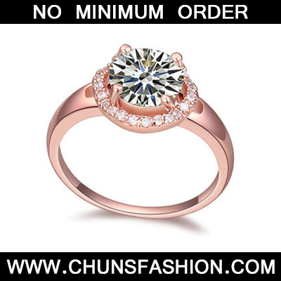 White & Rose Gold Diamond Zircon