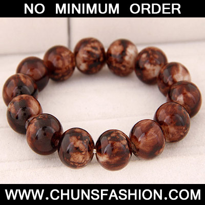 Brown Beads Glass Bracele