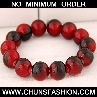 Red Beads Glass Bracele