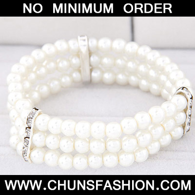 White Pearl Multilayer Bracele