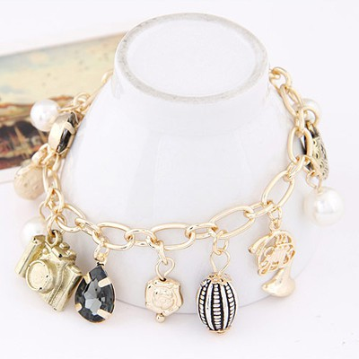 Gold Pearl Multi element Bracele