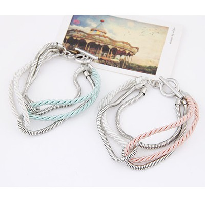 Light Pink Chain Weave Bracele