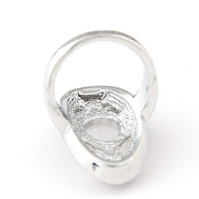 White Diamond Rose Ring