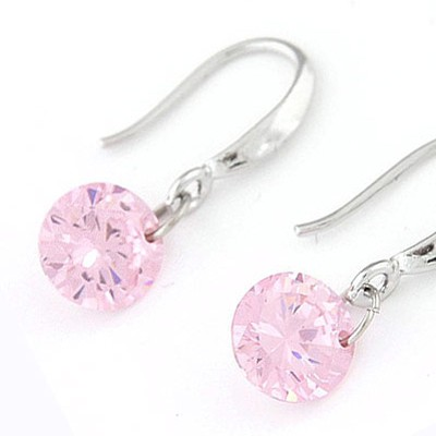 Pink Diamond Cuprum Earring