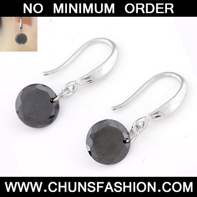 Gun Black Diamond Cuprum Earring