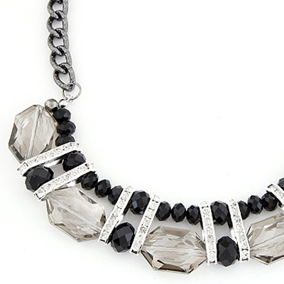 Gray Geometrical Shape Necklace