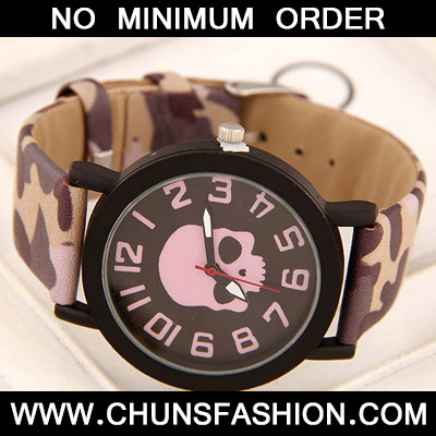 Purple Skull Pattern Ladies Watch