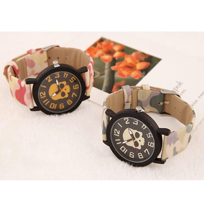 Green Skull Pattern Ladies Watch