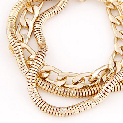 Gold Metal Chain Bracele