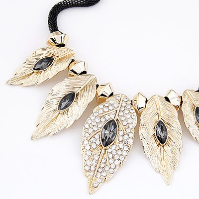 Waist Gold & Gray Diamond Leaf