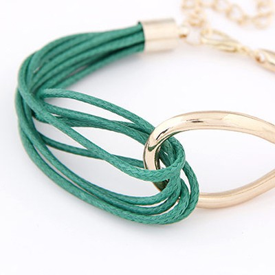 Green Metal Multilayer Bracele