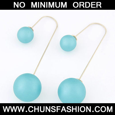 Light Blue Candy Round Shape Stud Earring