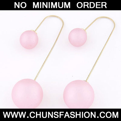 Pink Candy Round Shape Stud Earring