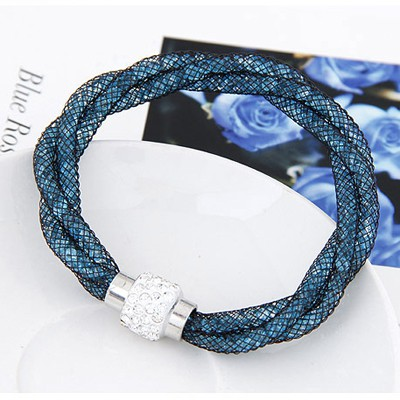Blue Diamond Weave Bracele