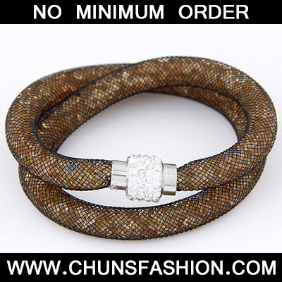 Yellow Smoke Diamond Double Layer Bracele