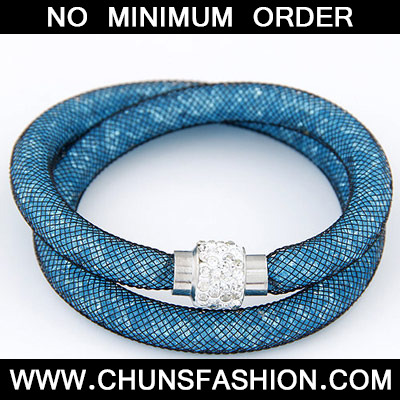Blue Diamond Double Layer Bracele