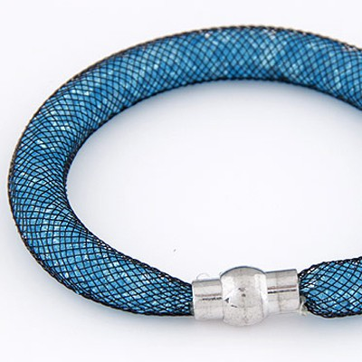Blue Diamond Hollow Out Bracele