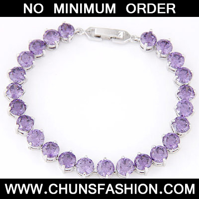 Purple Diamond Cuprum Bracelet
