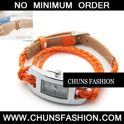 Orange Roman Dial PU Watch