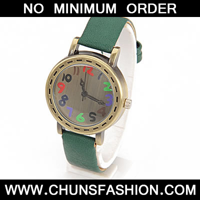 Green Candy Number PU Watch