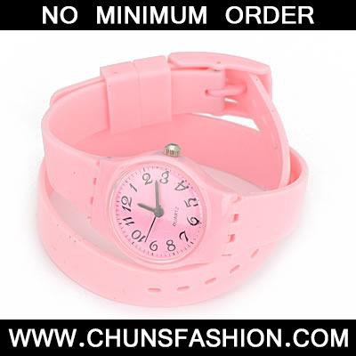 Pink Andy Double Layer Watchband Watch