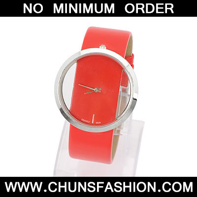 Red Hollow Out Watch