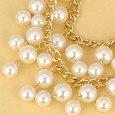 White Pearl Double Layer Necklace