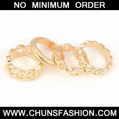 Gold Four Combination Ring