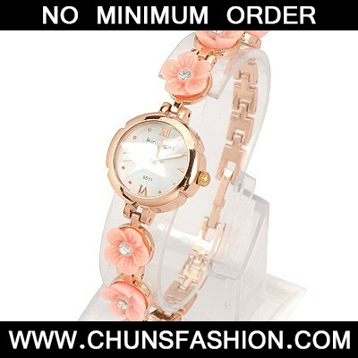 Pink Six Flowers Watch
