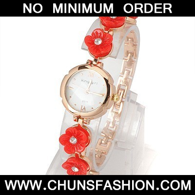 Red Six Flowers Watch