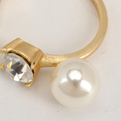 Gold Good Quality Double Pearls Opening