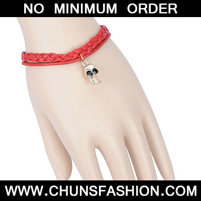 red skull double layer Bracele