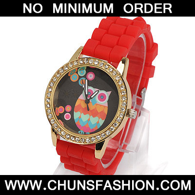 red diamond owl pattern Ladies Watch