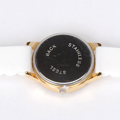 white diamond rose pattern Ladies Watch