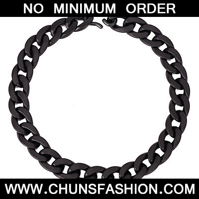 Black Pure Chains Palstic Necklace