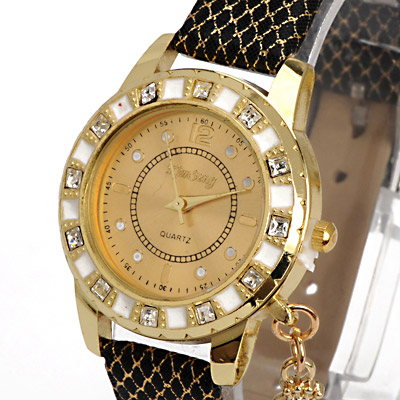 Black Diamond Swan Shape Ladies Watch