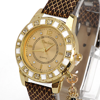 Coffee Diamond Swan Shape Ladies Watch