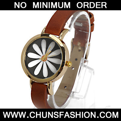 Coffee Flower Pattern Ladies Watch